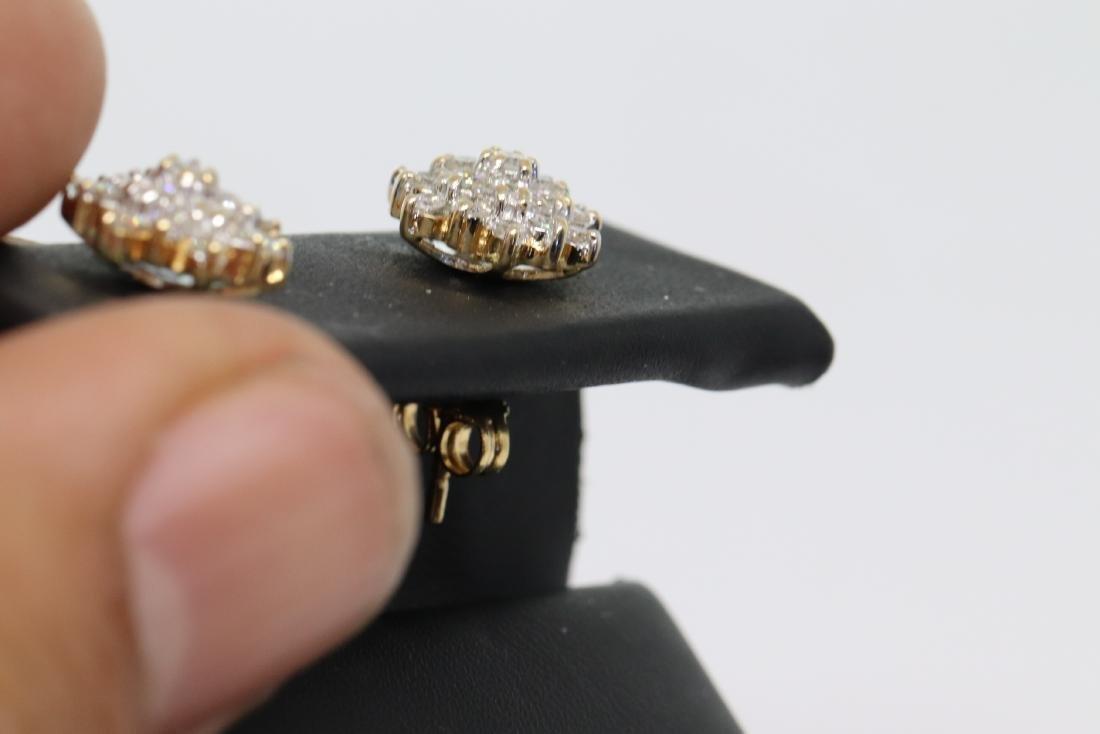 14k Diamond Earrings - 3