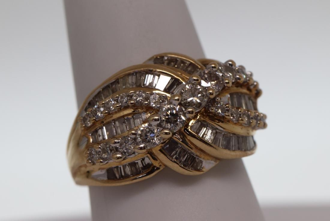 14k Cocktail Diamond Ring - 2