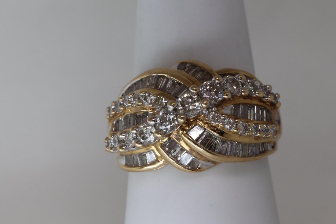 14k Cocktail Diamond Ring - 3