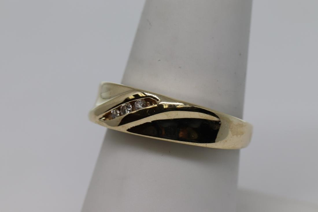 14k Men's Diamond Ring - 2