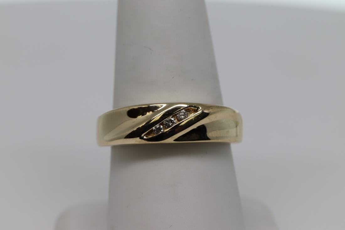 14k Men's Diamond Ring - 4