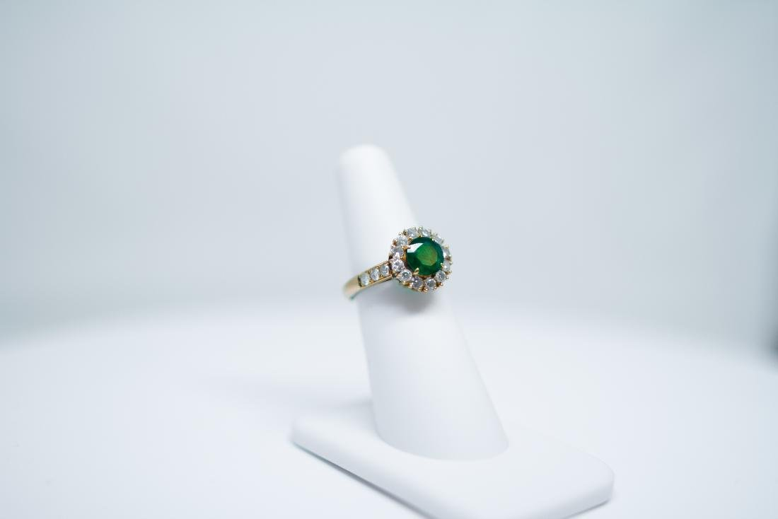 14k Emerald ring/ diamond - 2