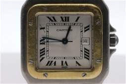 Cartier Santos Galbee Two Tone Watch
