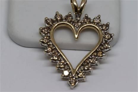 100ctw Diamond Heart Pendant