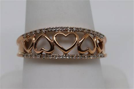 14k Heart Design Ring