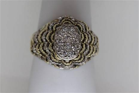 Ladies 14k two tone gold vintage design
