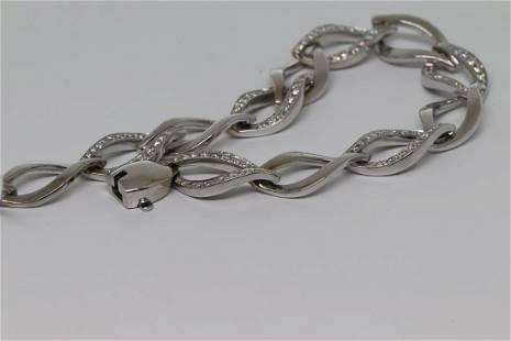 14k Chain Diamond Bracelet
