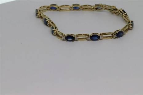 Sapphire Bracelet 14k