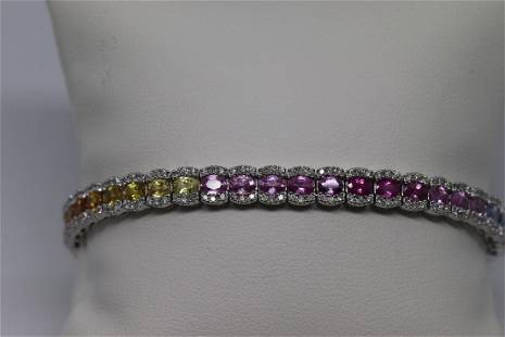 18k Sapphires Tanzanites Citrine and etc Bracelet