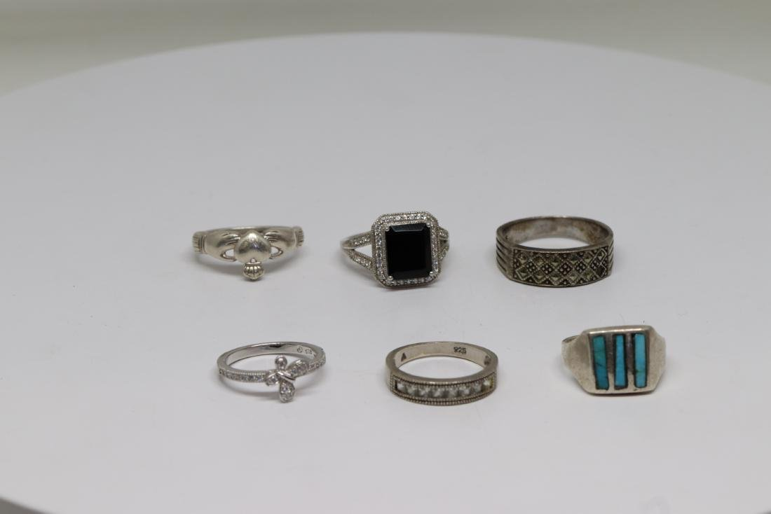 6 unique rings 925
