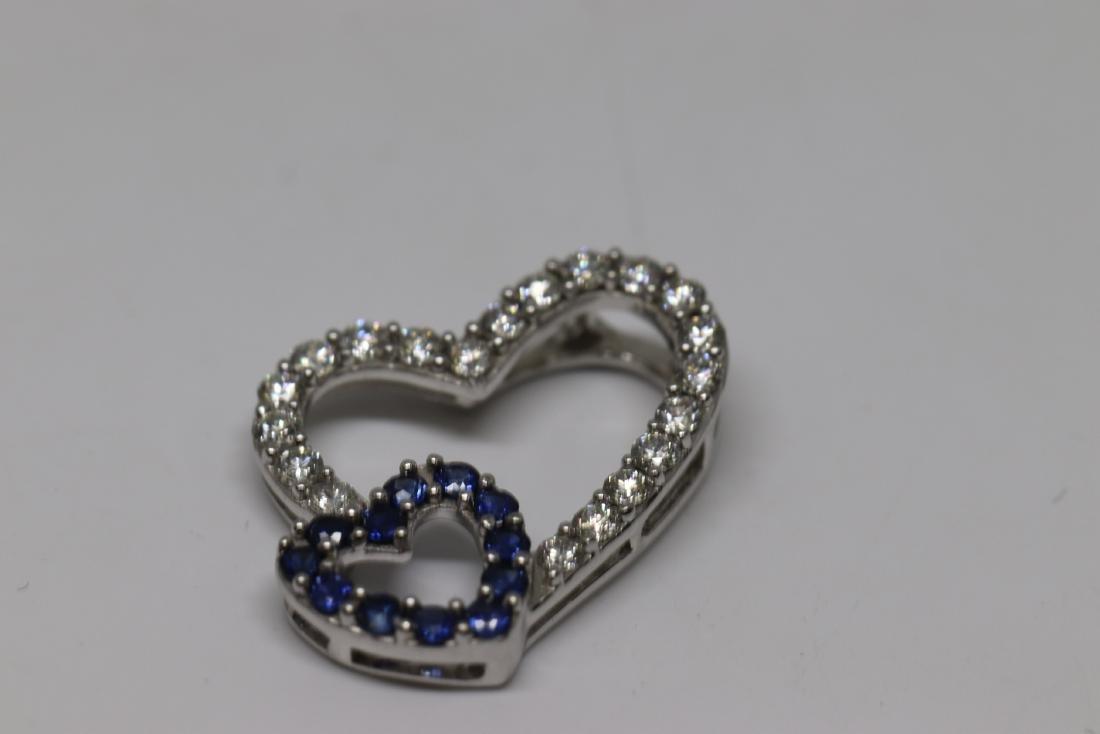 Double Heart Diamond Pendant - 2
