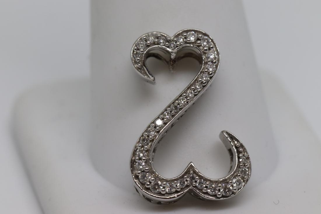 14k Diamond Upside Down Heart - 2