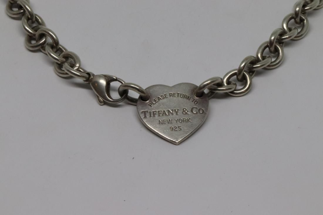 Tiffany & Co Sterling Silver Heart Necklace