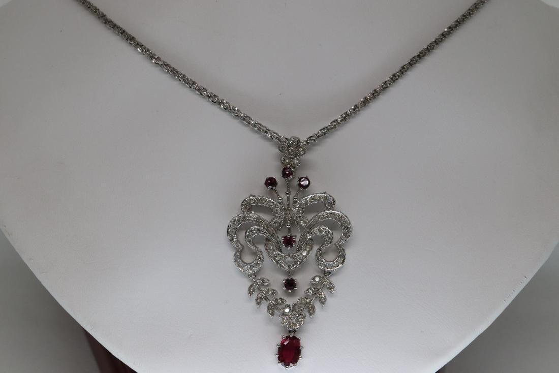 Art Deco Diamond Necklace 14Kt