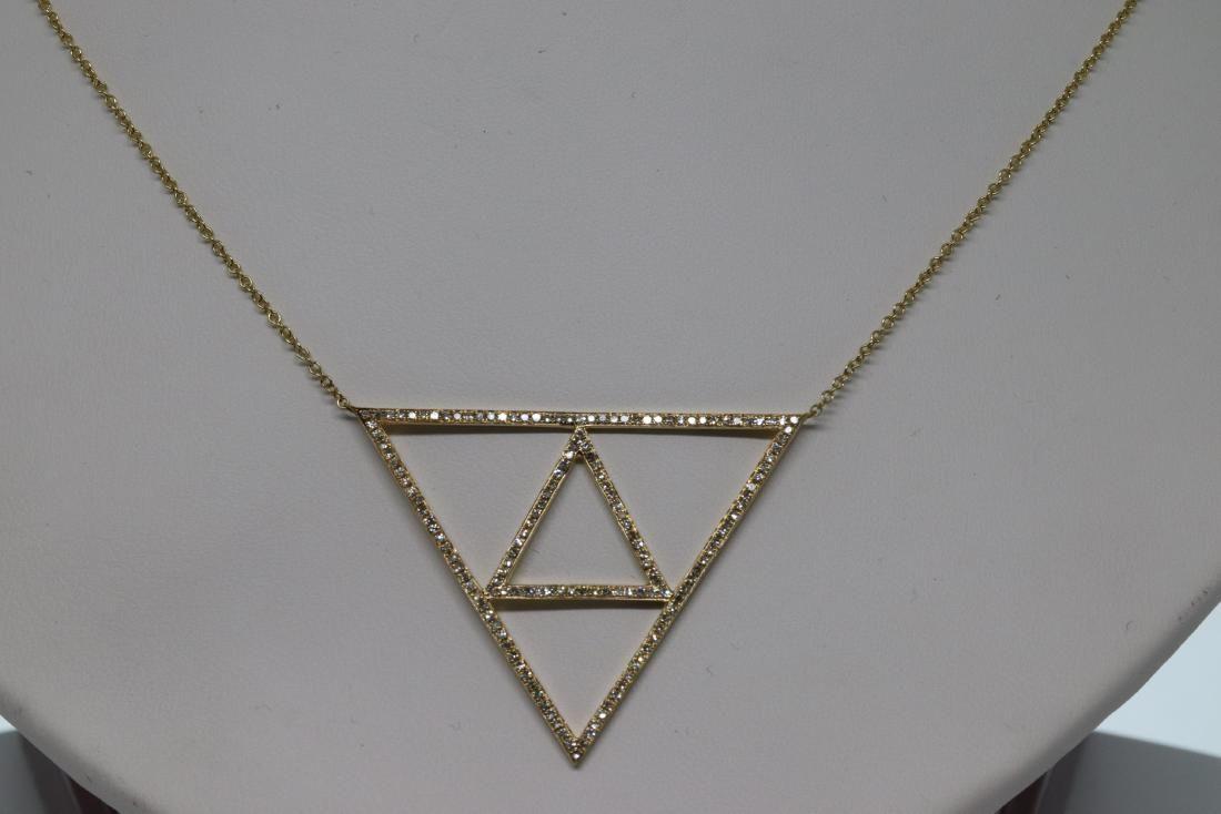 14Kt Ladies Diamond Necklace