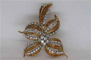 3e1b09c25ba Vintage White Gold Brooches & Pins for Sale & Antique White Gold ...