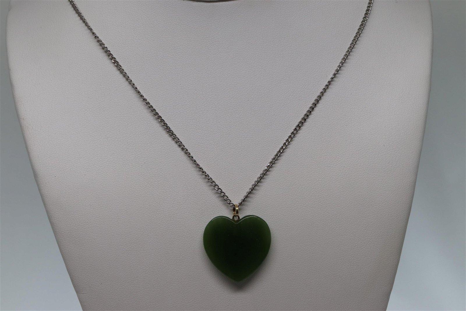 14kt & Silver Jade Necklace