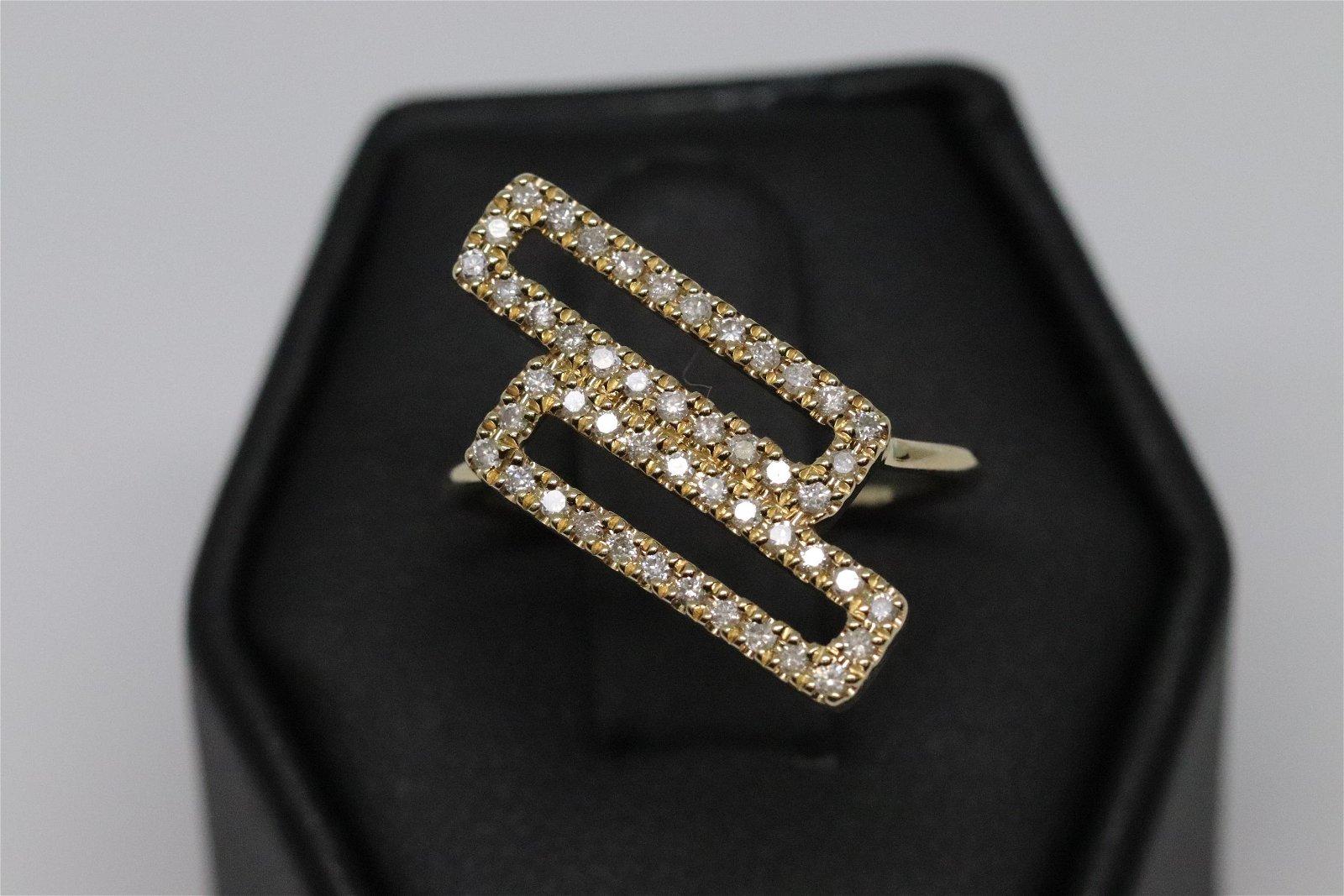 14k Modern Diamond Ring