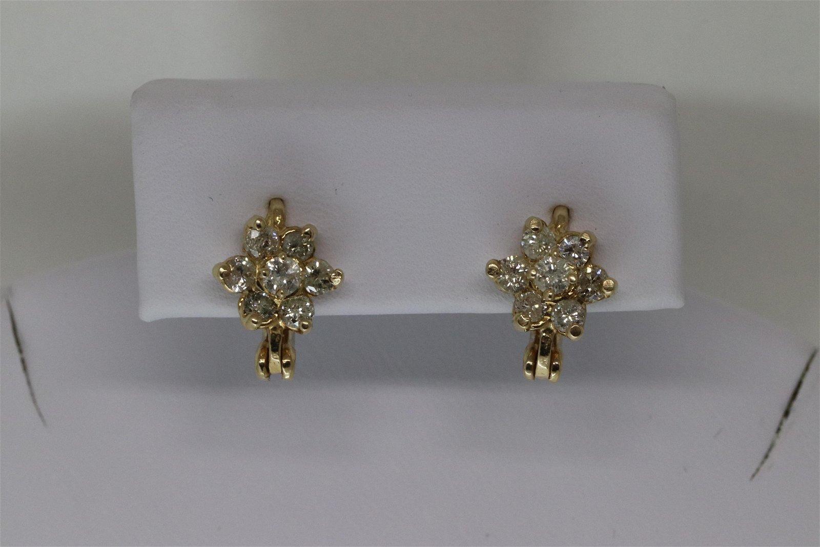 14KT Ladies Diamond Earrings