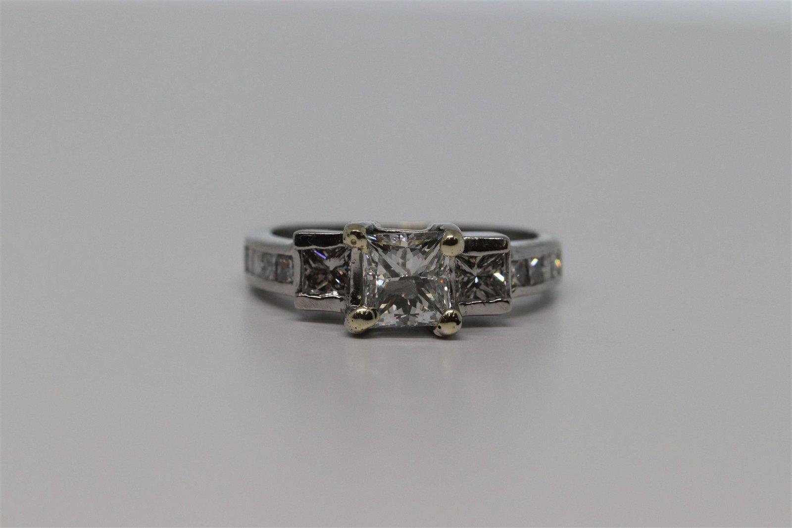Platinum Diamond Ring 1.25CTW
