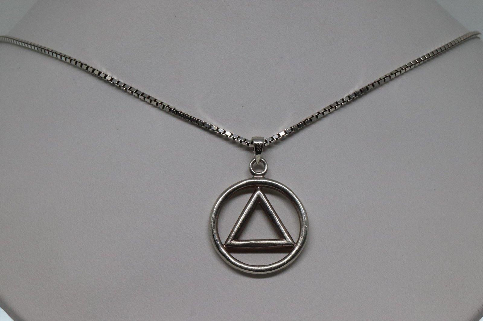 Silver necklace & Pendant