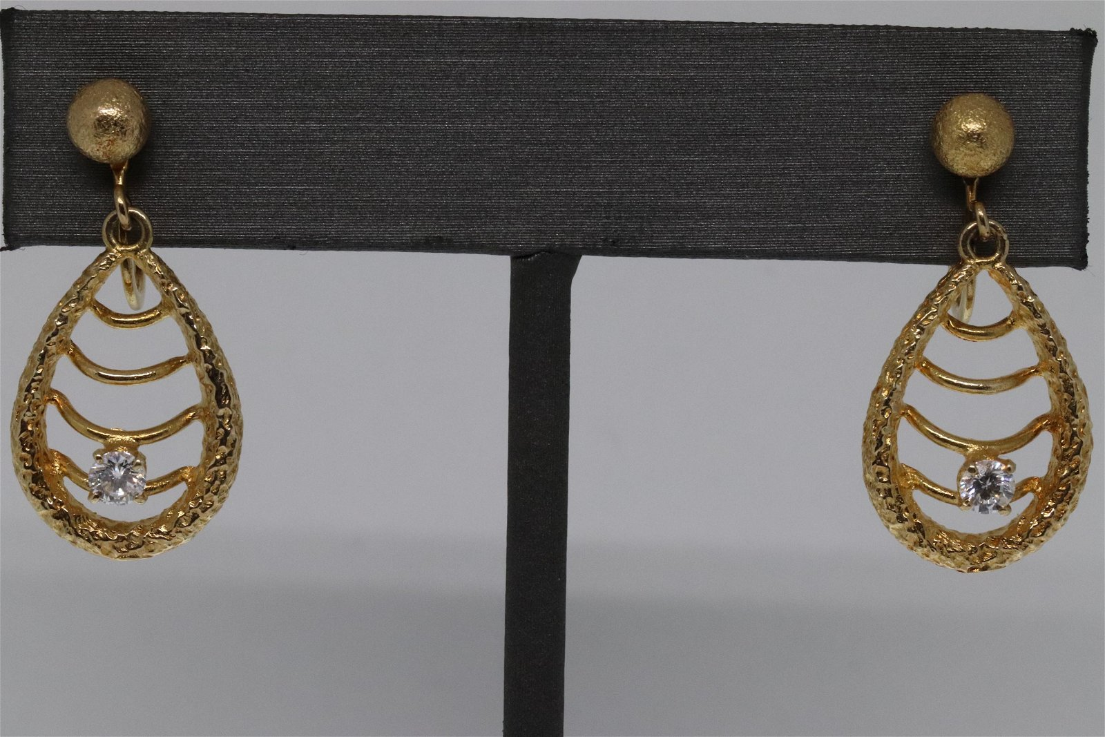 14K Art Deco Earring Design/ Diamond