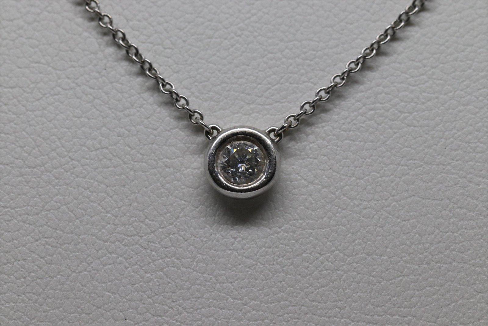 14Kt Diamond Solitare Necklace