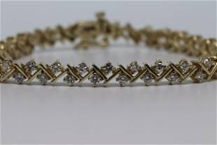 14Kt Ladies Diamond Bracelet 350ctw