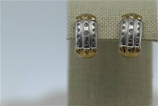 Ladies 14Kt Diamond Earrings