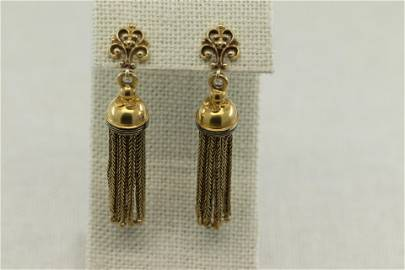 ANTIQUE, FRENCH, 14K YELLOW GOLD