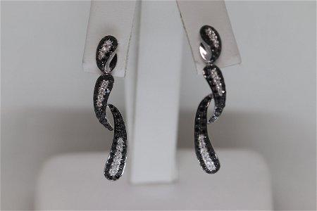 14KT Ladies Modern Diamond Earrings (1.33cttw)