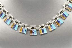 Sterling Silver  MultiStone Necklace Mexico Mexican