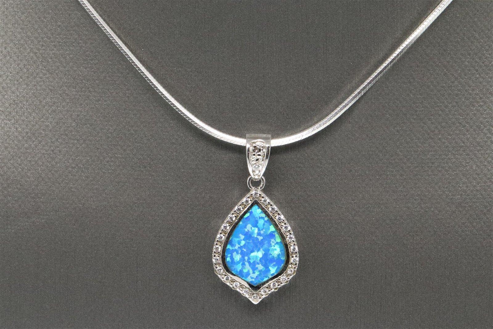 Ladies Blue Opal Necklace.