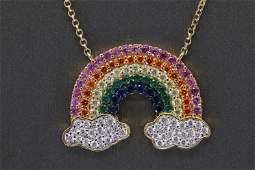 925 Silver Rainbow Necklace
