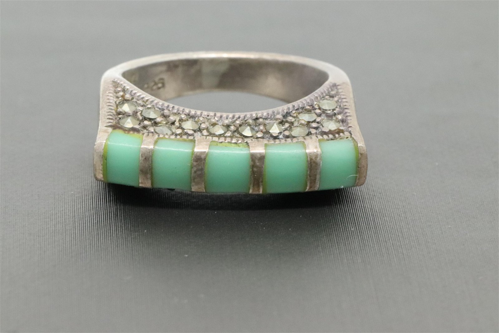 925 Silver Turquoise Ring.