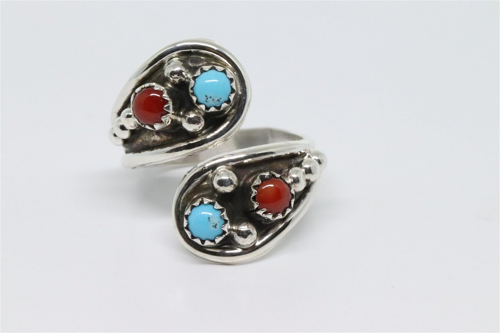 Navajo Ladies Sterling Silver Ring.