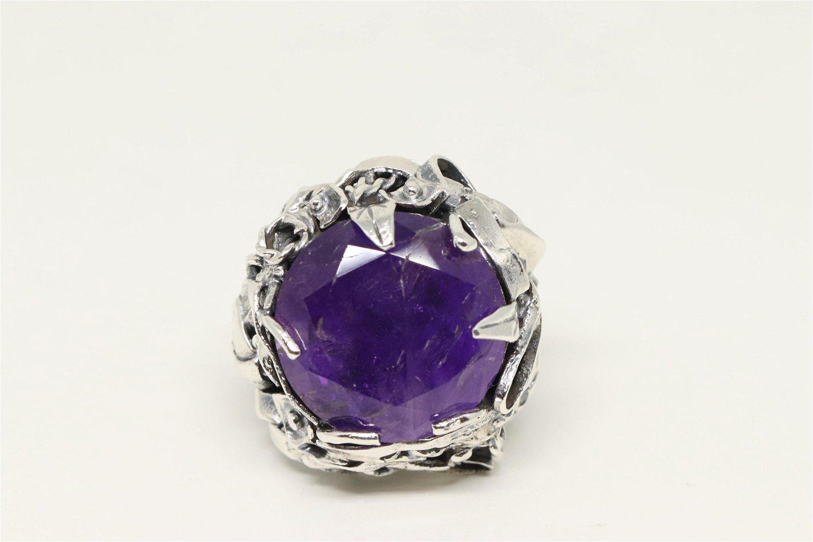 925 Silver Art Deco Ring.