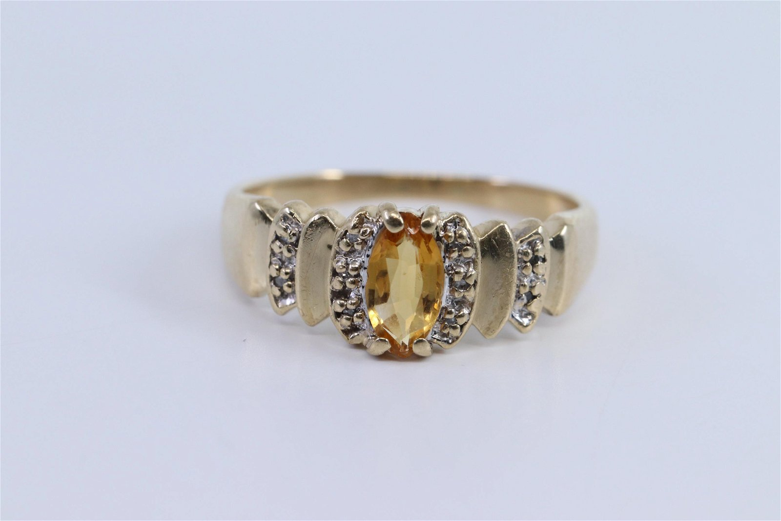 Ladies Diamond Ring| Citrine Stone