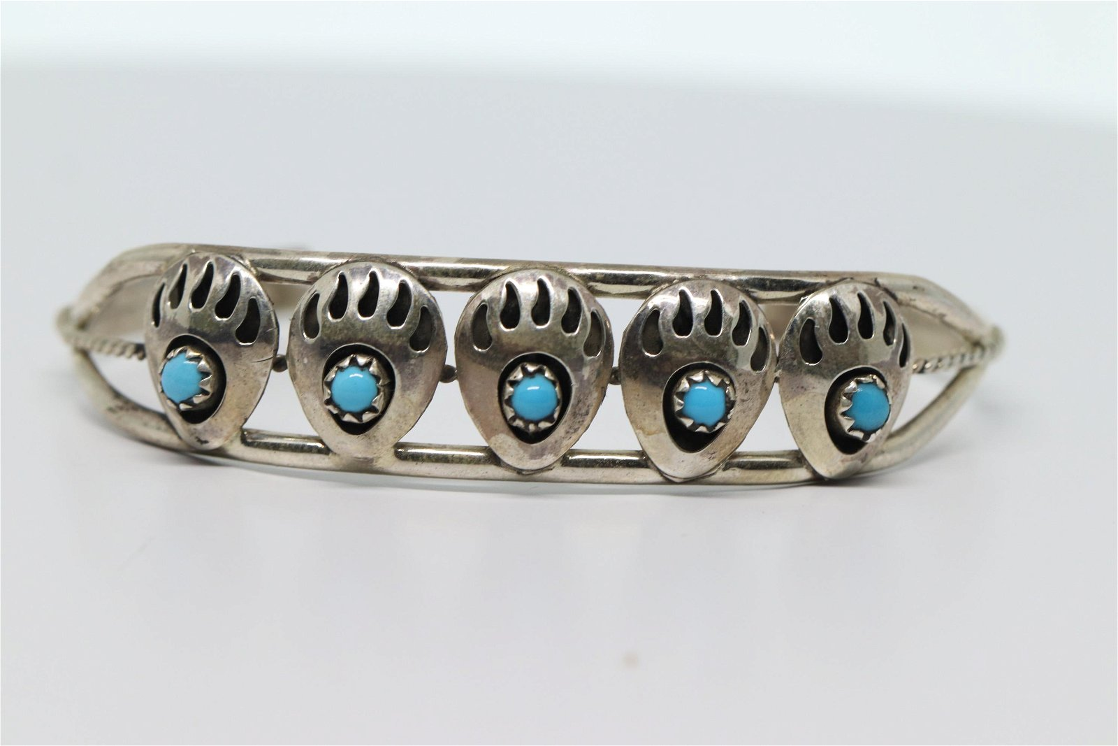 Navajo Bear Paw bracelet by Janice Spencer