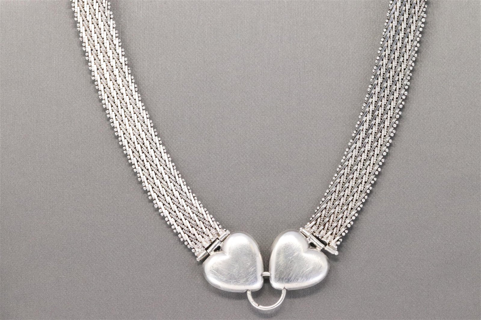 Ladies 925 Silver Heart Necklace.