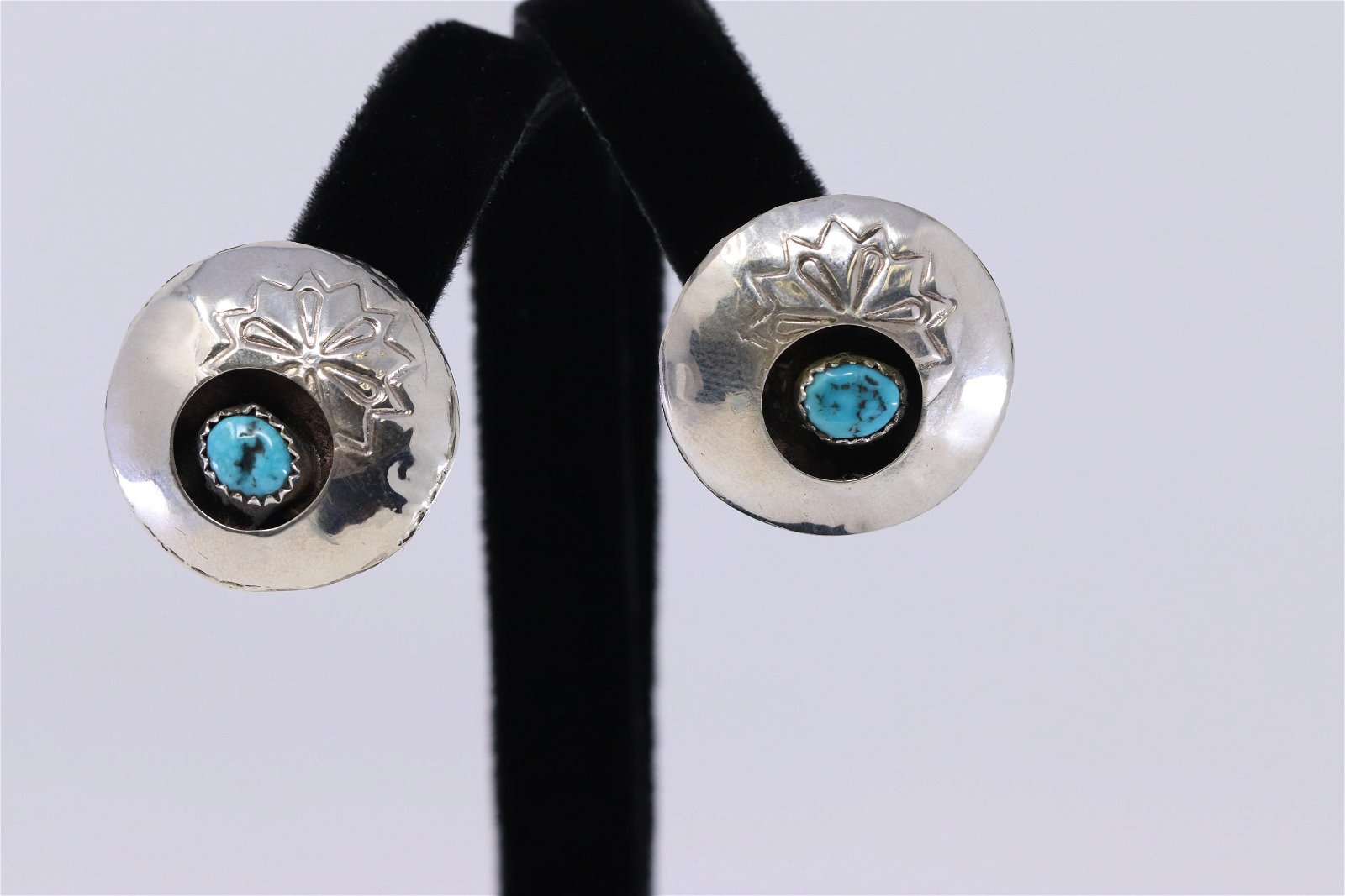 Sterling Silver and Turquoise Earrings Handmade by
