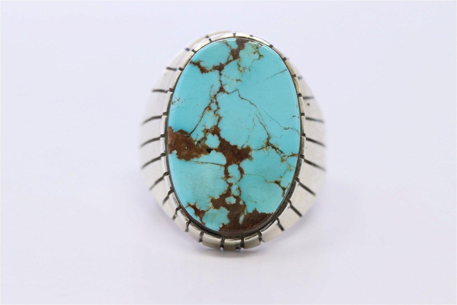 Native American Navajo Handmade Ring By Ray Jack.