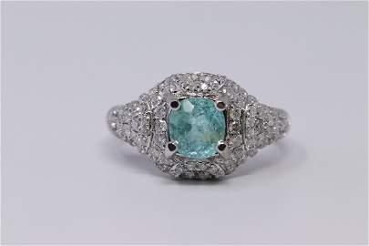 14Kt Paraiba Ring w/ Diamonds ( 2.79ctw)