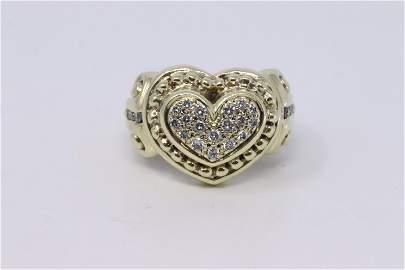 14Kt Vintage Diamond Heart Ring