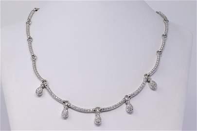 14Kt Diamond Drop Necklace (2.00cttw)