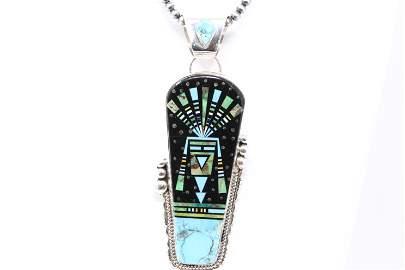 Native American Navajo Handmade Multistone Pendant
