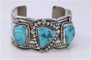 Native American Navajo Handmade Turquoise Bracelet By