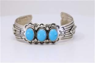 Native American Navajo Handmade Sterlin Silver
