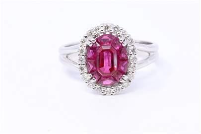 18Kt Diamond | Ruby Ring