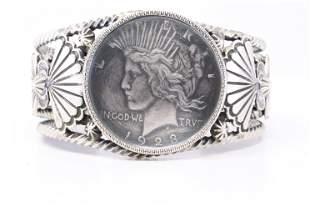 Native American Navajo Handmade Sterling Silver Liberty